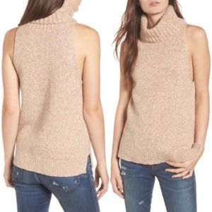 Madewell Wool Sleeveless Turtleneck Sweater!